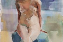 Figurative Watercolor   Scott Dolan / A collection of figurative watercolor studies taken from www.scottdolanstudio.com. Paintings are all quickly executed from a live model, most poses are 20 minutes or less in duration.