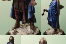 3D Saxon warrior