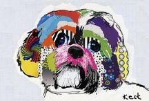 Michel Keck / Painter, Animals, Collage