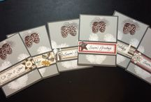 Holiday Cards- embossed trees
