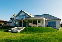 Pentyak | Harlyn Bay, Cornwall / Pentyak is an incredible, recently renovated holiday home overlooking Harlyn Bay on the north coast of Cornwall. Complete with stair slide, tree house and trampoline.