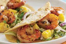 Shrimp tacos with/ cucumber