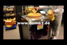 Cheese Processing Machinery / As a family owned company Doma GmbH develops and produces since 1974 machines for precise cutting of cheese and fruits.