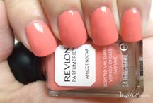 Orange, Peach and Coral polish collection