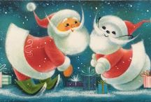 Vintage Christmas Cards / Retro and Vintage Christmas cards and holiday greetings