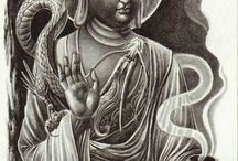 Budha tattoo ideas / Boven arm full sleeve