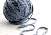 Kniting with T-shirt Yarn / kniting
