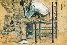 NEDERLAND / Van  Gogh Vincent / Vincent Willem 30 maart 1853 geboren in Zundert,vader Theodorus predikant,moeder Anna Cornelia Carbentus Gezin van 6 kinderen waaronder Theo zijn favoriete broer.Vincent overlijd op 29 juli 1890.