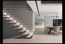 3D Ceramic Wall Tiles / This is Hyperions new range of 3D ceramic wall tiles.