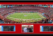 Game Ticket Framing / Personalize your print with Ticket Framing!  Customers have had us insert their game tickets or gameday photos into their framed photography sports print.