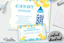 Baby Shower Products in Duck Theme, Invitations, Games, Decorations And More / Hi, thank you for visiting this beautiful baby shower board with products in Duck theme. Here, you'll find different invitations, games and activities, decorations and more with over 40 products in this theme.