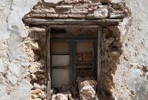Windows & Doors: Old Rusted Warn / Rustic, rusted, unused, historic, falling apart, weathered, old doors & windows!  / by Leslie Rhoades