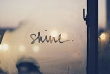 //this little light of mine...// / Affirmations to remind you to always shine your light..no matter what!