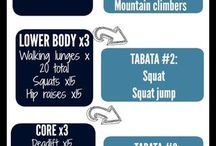 Exercices + Tabata; Good luck guys, you doing ✌