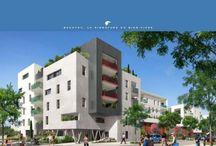 Résidence Zen Park quartier Ovalier Montpellier 34000 / La résidence ZEN PARK est une résidence à échelle humaine qui propose des appartements du T1 au T4 avec une vue dégagée sur un jardin japonais.