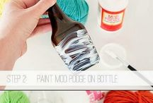 glass bottle decorating
