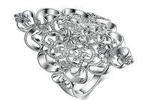 Wunderschön Silverplated Ring für Damen Gr 56 (17,8 mm Ø)+G 6 g 13,90 Euro