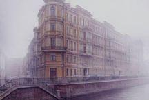 St. Petersburg. Fog and rain / Saint-Petersburg with fog and rain