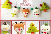 Tiny felt crafts for Christmas