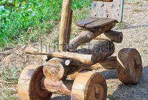 drevené autičká