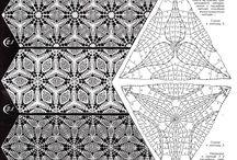 Triangulos crochet