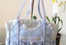 Bolsas de tecido 2 / Costura de bolsas de tecido.
