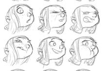 create characters / concepts,expressions,illustrations