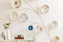 Plates on wall - mom