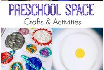Avaruusteema/space theme / Ideas for kindergarden