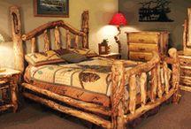 Premium Log Furniture / This is our American-made premium handcrafted log furniture.  Visit us at www.LogCabinRustics.com