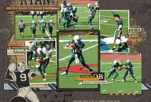 Sports Scrapbook Pages / Paper and digital scrapbook pages with a sports theme.