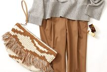 brown combination otfit