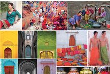 Modern India : Priti visual positioning and inspiration  / The colors, texture and shapes of India, Priti logo was derived from the architectural detail of India's doorways.