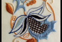 crewel embroidery / Crewel design. And stitches