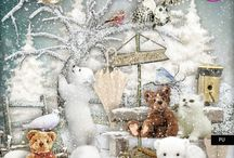 Winter Time - Layouts by my CT to inspire you ! / https://www.mymemories.com/store/designers/PerlineDesign?r=PerlineDesign   http://www.digiscrapbooking.ch/shop/index.php?main_page=index&manufacturers_id=160