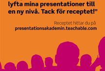 Presentationsakademin / Presentationsakademins kurs i presentationer. Onlinekurs.