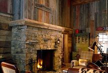 Brown Red Grey Barnwood Accent Walls