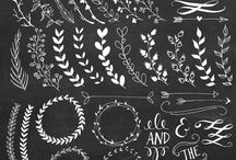 chalkboard art and lettering