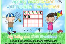 Math-Subtraction / Math lessons, activities, and centers for practicing subtraction for prek, kindergarten, first grade, and second grade classrooms.