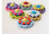 Crochet Flowers and other motifs / crochet motifs for sue on projects.