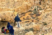 Mitzpe Ramon & Negev, Israel / Mitzpe Ramon, Israel, the Makhtesh Ramon (Ramon Crater) and nearby towns in the Negev Desert.