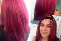 haircuts & colors for long and medium hair
