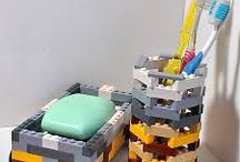 How to Use Lego Bricks / A variety of ways to use Lego bricks to help organize storage.