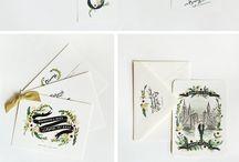 01_Hand drawn wedding invitation