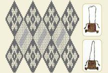 Medieval brickstitch silk embroidery (patterns)