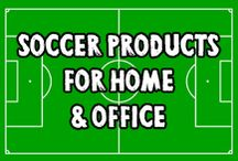 Soccer (Football) Products for Home & Office @ Game Face Gear / These original soccer / football designs are available on a huge variety of products Including mugs, clocks, pillows, oven mitts, mouse pads, kitchen towels, aprons, ornaments, dry erase boards, art prints, posters, stickers and so much more. Available in Game Face Gear's Zazzle and CafePress stores.
