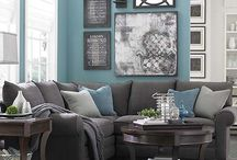 Charcoal Grey Couch Decor