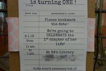 Birthday Party- Book / by Hayden Conley