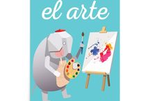 Art Prints - Spanish / Modern art prints for kids rooms, playrooms or classrooms.