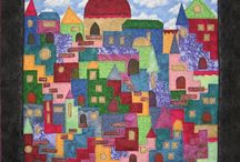 House and Building Quilts / Homes, towns, different building structures in quilting interest me. I'm having fun finding different inspirations for my projects.
